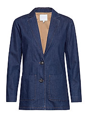 Suit jacket in denim - RAW DARK BLUE