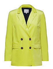 Suit jacket w. button closure - NEON YELLOW