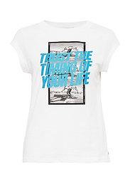 T-shirt w. trust the timing print - WHITE