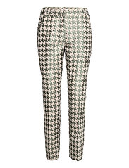 Pants in houndtooth jacquard LUCIA FIT - HOUNDSTOOTH GREEN