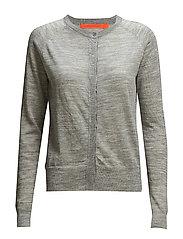 Round neck knit cardigan merino (Ba