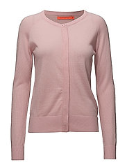 Round neck knit cardigan merino (Ba - ROSE