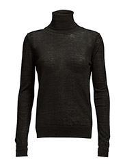 Roller neck merino (Basic) - BLACK