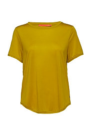 T-shirt w. short sleeve - ANTIQUE YELLOW
