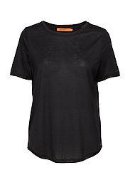 T-shirt w. short sleeve - BLACK