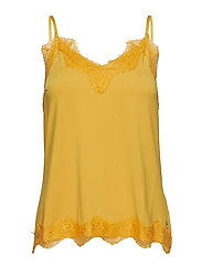 Strap top w. lace - GOLD SPICE