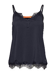 Strap top w. lace - NIGHT SKY BLUE