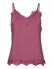Strap top w. lace - PINK LILAC