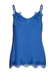 Strap top w. lace - SKY BLUE