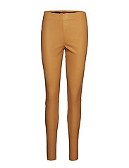 Leather stretch leggings - Mynte - GOLD SPICE