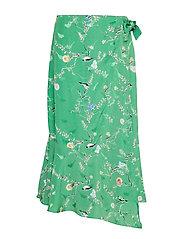 Coster Copenhagen Skirt w. wrap look in birdprint - BIRD PRINT