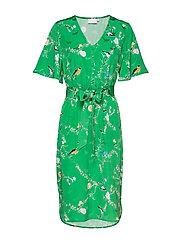 Dress with short sleeves in birdpri - BIRD PRINT