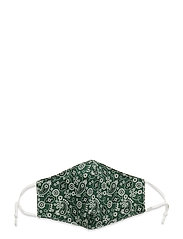 Face mask with 5 filters - GREEN PAISLEY