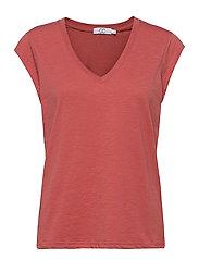CC Heart basic v-neck t-shirt  - BLUSH