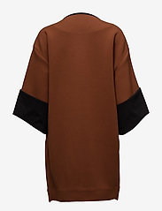 Coster Copenhagen - Quilted jacket w. jersey turn up - light coats - cognac - 1