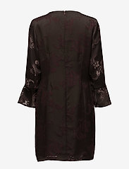 Coster Copenhagen - Dress w. sleeve ruffle burn-out - courtes robes - burn-out jacquard - 1