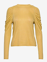 Coster Copenhagen - Knit in lurex w. volume at shoulder - neulepuserot - light yellow - 0