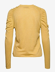 Coster Copenhagen - Knit in lurex w. volume at shoulder - neulepuserot - light yellow - 1