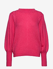 Coster Copenhagen - Knit w. volume at sleeves - neulepuserot - clear pink - 0