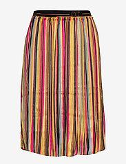 Coster Copenhagen - Skirt in plissé and multi color pri - midi - multi stripe print - 0