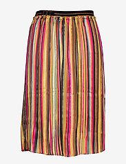 Coster Copenhagen - Skirt in plissé and multi color pri - midi - multi stripe print - 1