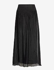 Coster Copenhagen - Long skirt w. jersey waistband - lange skjørt - black - 0