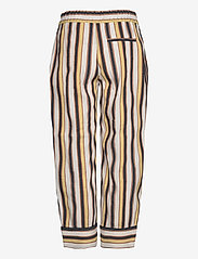 Coster Copenhagen - Pants w. piping - bukser med brede ben - desert stripe - 1