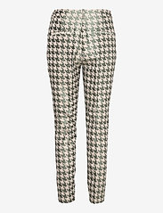 Coster Copenhagen - Pants in houndtooth jacquard LUCIA FIT - slim fit bukser - houndstooth green - 1