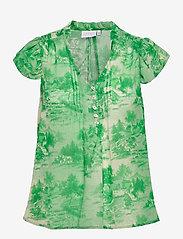 Coster Copenhagen - Top in wallpaper print - Recycled P - short-sleeved blouses - wallpaper print - 0