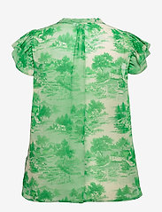 Coster Copenhagen - Top in wallpaper print - Recycled P - short-sleeved blouses - wallpaper print - 1