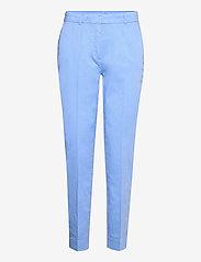 Chino pants w. press fold and paspe - AIRY BLUE