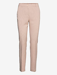Coster Copenhagen - Pants with press folds - LUCIA fit - collants thermiques - cream/pink check - 0