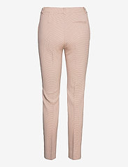 Coster Copenhagen - Pants with press folds - LUCIA fit - collants thermiques - cream/pink check - 1