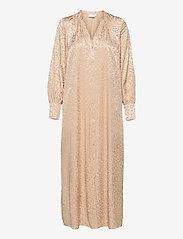 Coster Copenhagen - Shirt dress in leopard jacquard - kveldskjoler - vanilla - 2