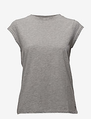 CC Heart basic t-shirt (B0017) - LIGHT GREY MELANGE