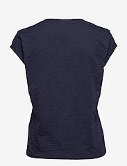 Coster Copenhagen - Basic tee w. v-neck - t-shirts - night sky blue - 1
