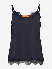 Coster Copenhagen - Strap top w. lace - Ærmeløse bluser - night sky blue - 0