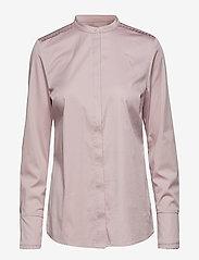 Coster Copenhagen - Feminine fit shirt w. plisse grosgr - koszule z długimi rękawami - soft rose - 0