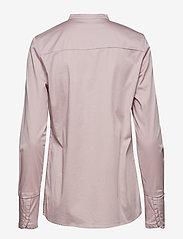 Coster Copenhagen - Feminine fit shirt w. plisse grosgr - koszule z długimi rękawami - soft rose - 1