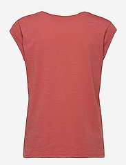 Coster Copenhagen - CC Heart basic v-neck t-shirt  - t-shirts - blush - 1