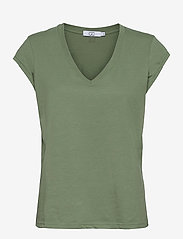 Coster Copenhagen - CC Heart basic v-neck t-shirt  - t-shirts - mineral green - 0