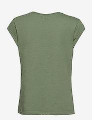 Coster Copenhagen - CC Heart basic v-neck t-shirt  - t-shirts - mineral green - 1
