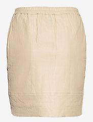 Coster Copenhagen - CC Heart leather skirt (B4514) - korta kjolar - cold cream - 1