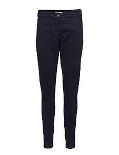 Garment dyed pants - DARK BLUE