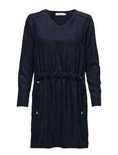Dress w. tie string - DARK BLUE
