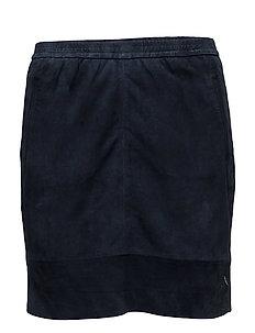 Suede skirt - DARK BLUE