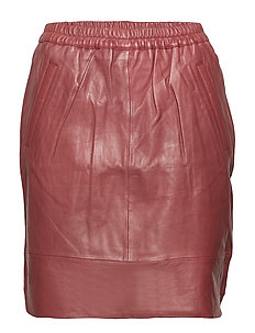 Skirt in leather - BORDEAUX