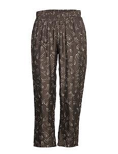 Pants in dot print w. elastic waist