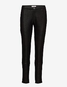 Coated leggings - spodnie rurki - black