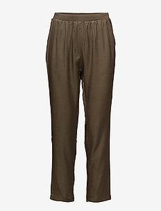 Sateen pants - spodnie na co dzień - dark olive